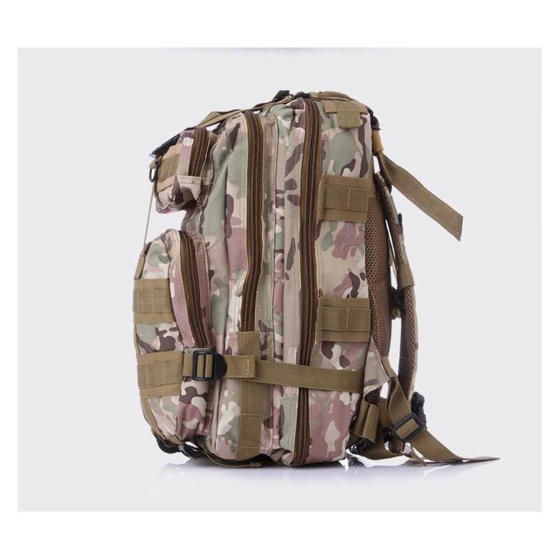 13493 - Недорогой камуфляжный тактический рюкзак 3P-Zone с системой M.O.L.L.E: 30л, водоотталкивающий нейлон