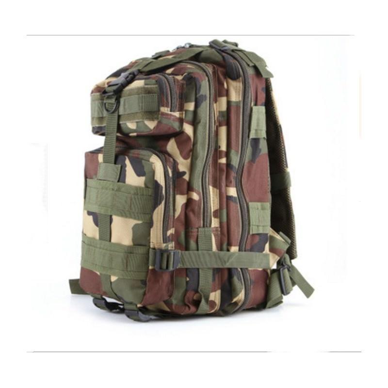 13495 - Недорогой камуфляжный тактический рюкзак 3P-Zone с системой M.O.L.L.E: 30л, водоотталкивающий нейлон