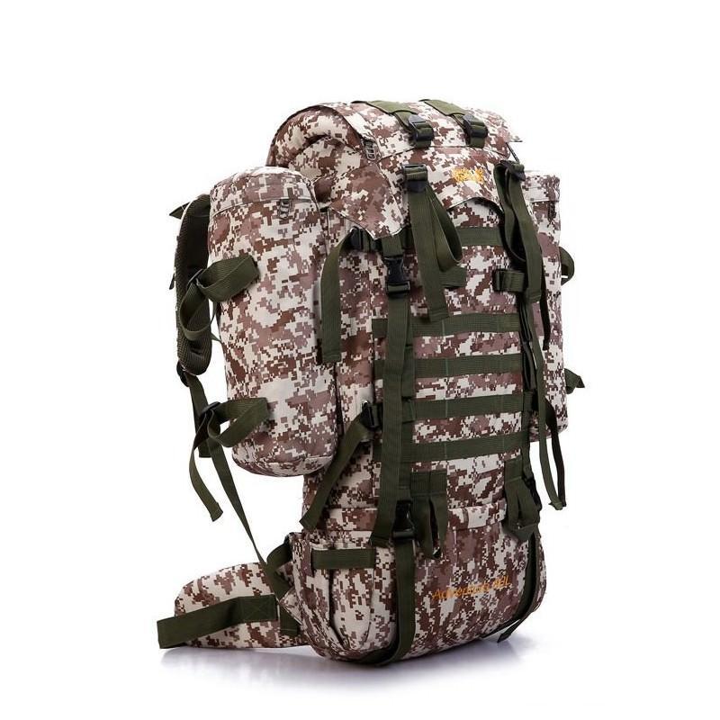 13496 - Камуфляжный туристический рюкзак Jack Wolfskin 80 л с системой M.O.L.L.E