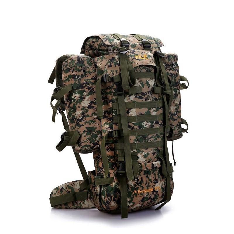 13513 - Камуфляжный туристический рюкзак Jack Wolfskin 80 л с системой M.O.L.L.E