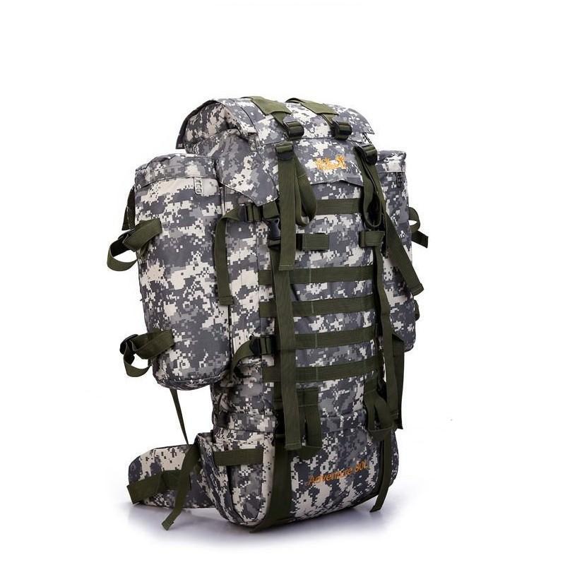 13515 - Камуфляжный туристический рюкзак Jack Wolfskin 80 л с системой M.O.L.L.E