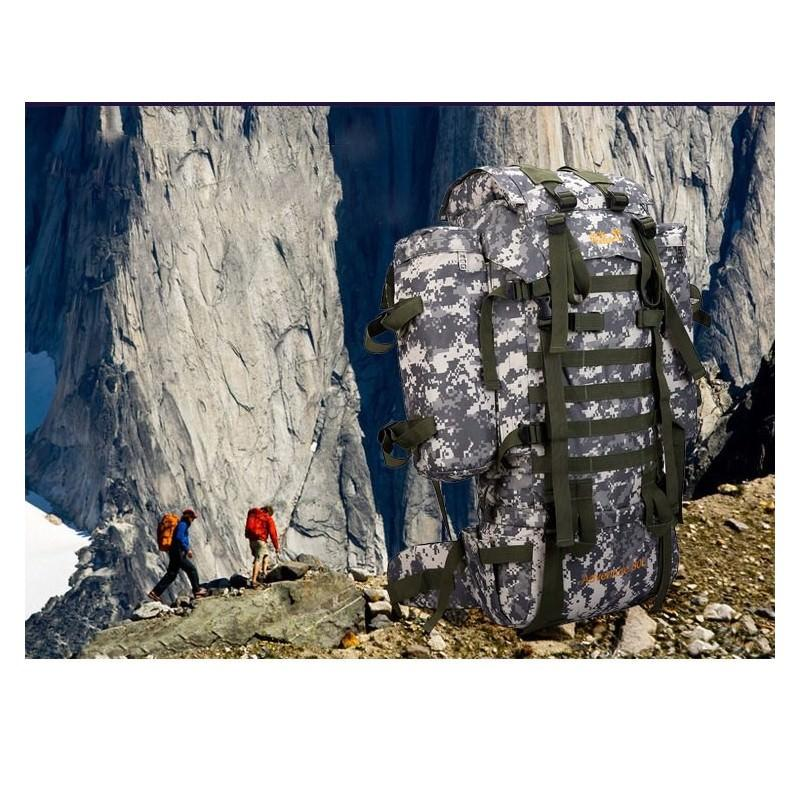 13520 - Камуфляжный туристический рюкзак Jack Wolfskin 80 л с системой M.O.L.L.E