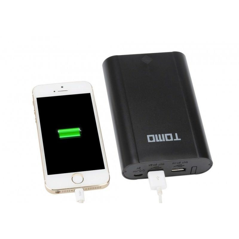Портативное зарядное устройство для аккумуляторов Tomo с функцией PowerBank – ЖК-дисплей, 4 х 18650, 2 x USB 194137