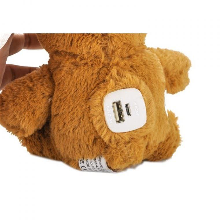 1375 - Медведь с USB-зарядкой в ****е (power-bank 5200 мАч, 500 циклов заряда)