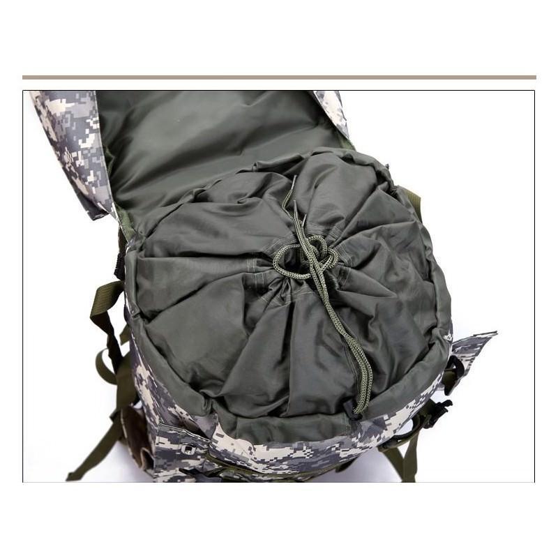 Комплект: Камуфляжный туристический рюкзак Jack Wolfskin 80 л с системой M.O.L.L.E + Портативное солнечное зарядное 7 Вт 194484