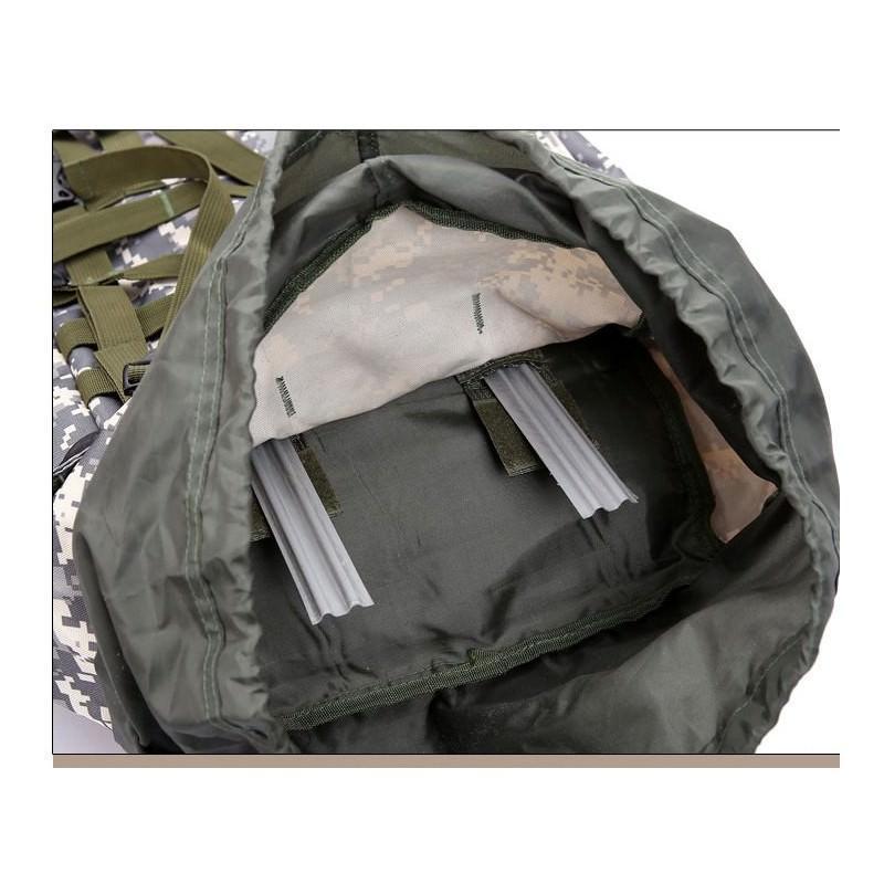 Комплект: Камуфляжный туристический рюкзак Jack Wolfskin 80 л с системой M.O.L.L.E + Портативное солнечное зарядное 7 Вт 194485