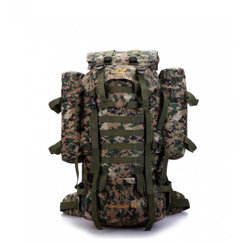 Комплект: Камуфляжный туристический рюкзак Jack Wolfskin 80 л с системой M.O.L.L.E + Портативное солнечное зарядное 7 Вт 194487