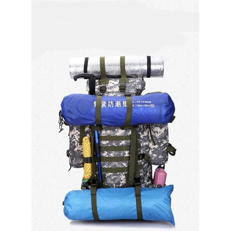 Комплект: Камуфляжный туристический рюкзак Jack Wolfskin 80 л с системой M.O.L.L.E + Портативное солнечное зарядное 7 Вт 194488