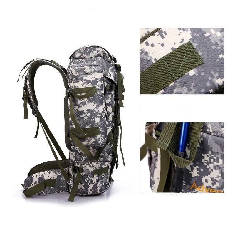 Комплект: Камуфляжный туристический рюкзак Jack Wolfskin 80 л с системой M.O.L.L.E + Портативное солнечное зарядное 7 Вт 194491
