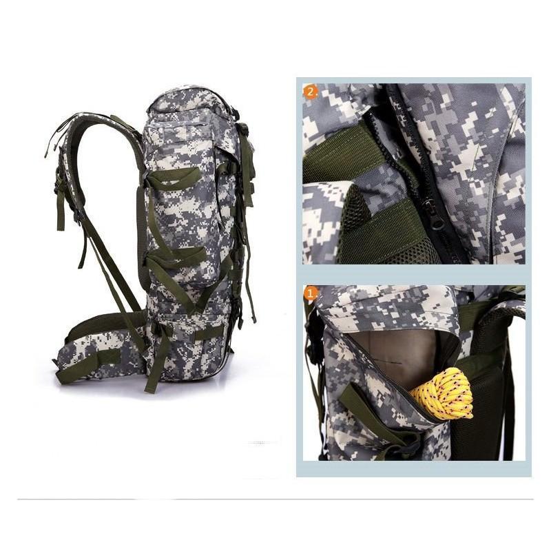 Комплект: Камуфляжный туристический рюкзак Jack Wolfskin 80 л с системой M.O.L.L.E + Портативное солнечное зарядное 7 Вт 194492
