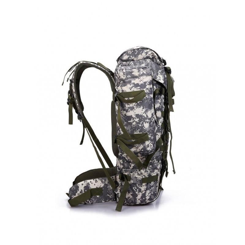 Комплект: Камуфляжный туристический рюкзак Jack Wolfskin 80 л с системой M.O.L.L.E + Портативное солнечное зарядное 7 Вт 194494