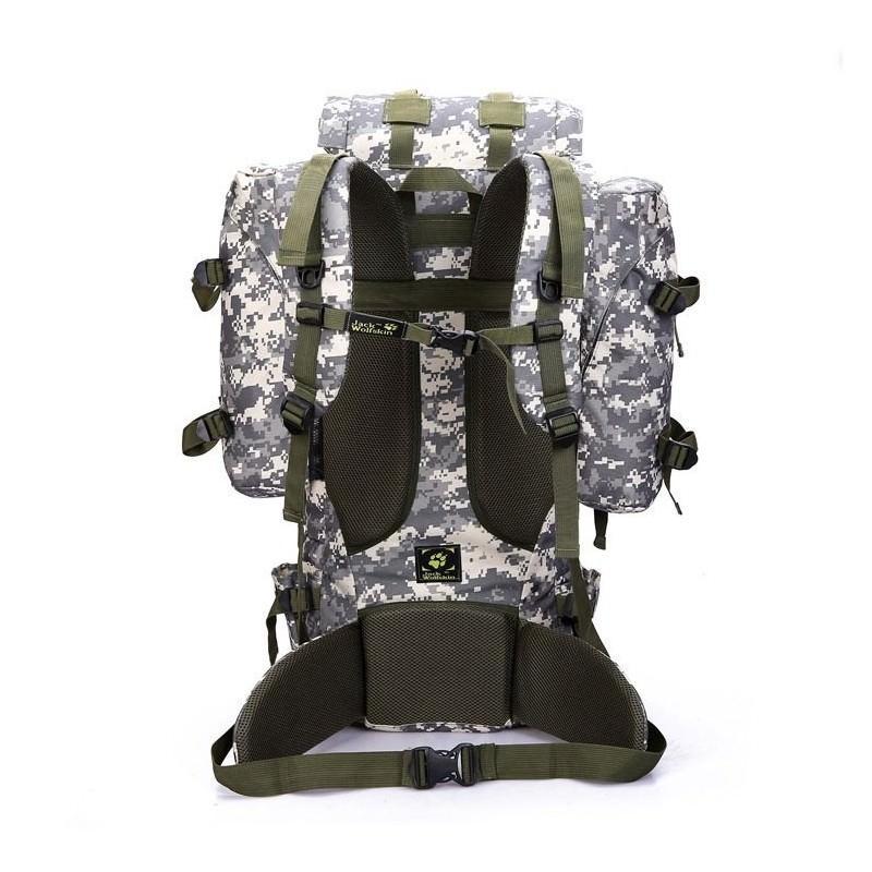 Комплект: Камуфляжный туристический рюкзак Jack Wolfskin 80 л с системой M.O.L.L.E + Портативное солнечное зарядное 7 Вт 194495