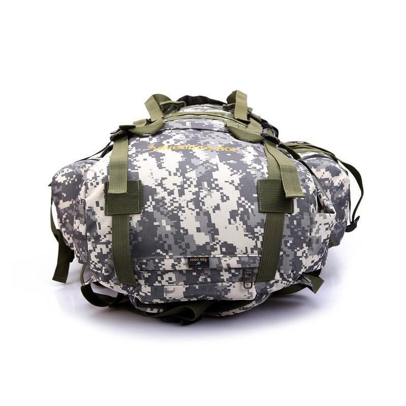 Комплект: Камуфляжный туристический рюкзак Jack Wolfskin 80 л с системой M.O.L.L.E + Портативное солнечное зарядное 7 Вт 194496