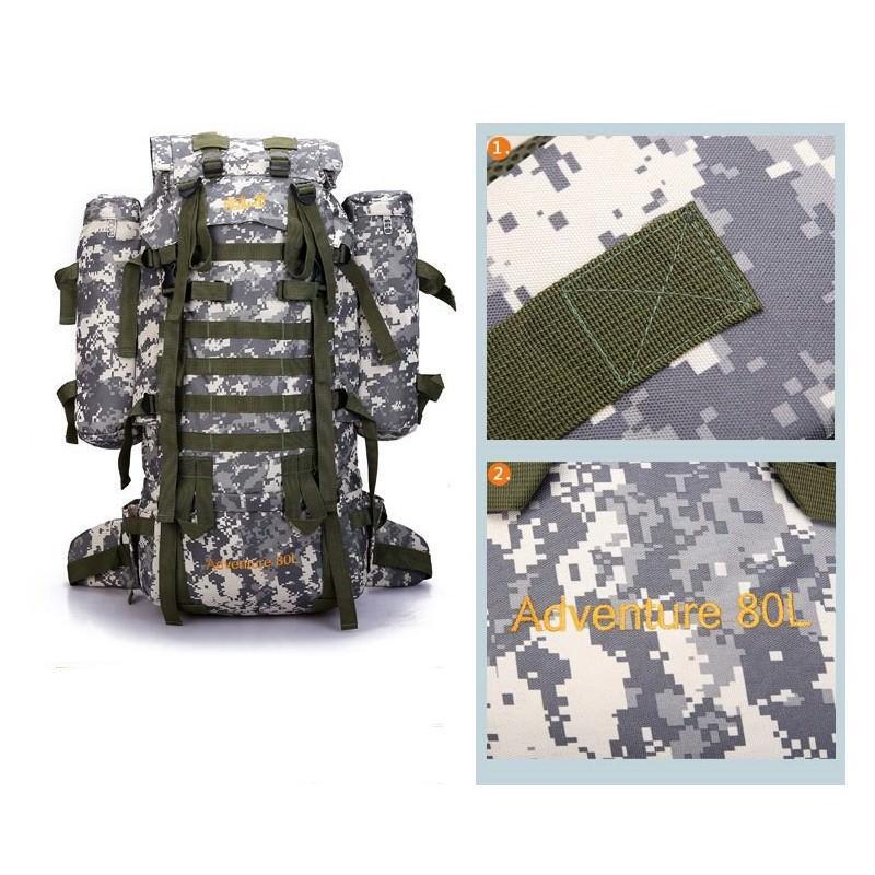 Комплект: Камуфляжный туристический рюкзак Jack Wolfskin 80 л с системой M.O.L.L.E + Портативное солнечное зарядное 7 Вт 194499