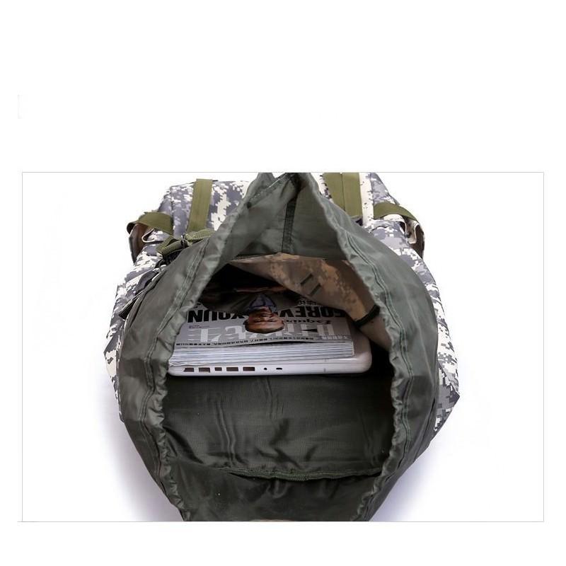 Комплект: Камуфляжный туристический рюкзак Jack Wolfskin 80 л с системой M.O.L.L.E + Портативное солнечное зарядное 7 Вт 194501