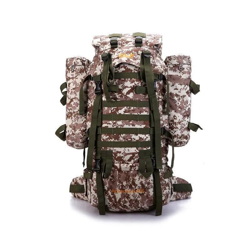 Комплект: Камуфляжный туристический рюкзак Jack Wolfskin 80 л с системой M.O.L.L.E + Портативное солнечное зарядное 7 Вт 194504