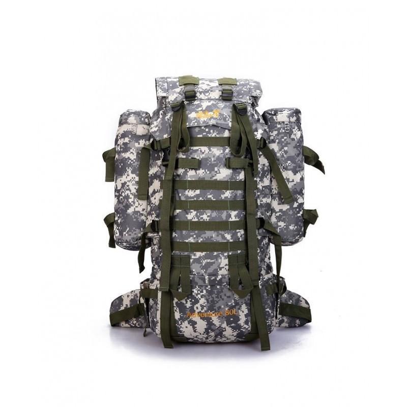 Комплект: Камуфляжный туристический рюкзак Jack Wolfskin 80 л с системой M.O.L.L.E + Солнечное зарядное Allpowers X-DRAGON 20Вт 194529