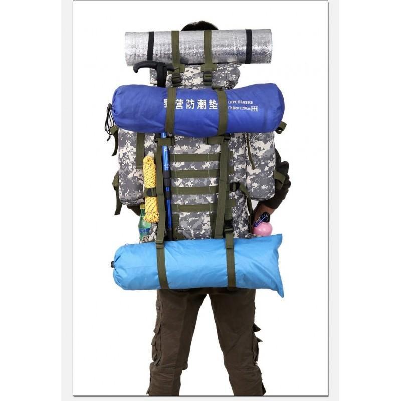 Комплект: Камуфляжный туристический рюкзак Jack Wolfskin 80 л с системой M.O.L.L.E + Солнечное зарядное Allpowers X-DRAGON 20Вт 194540
