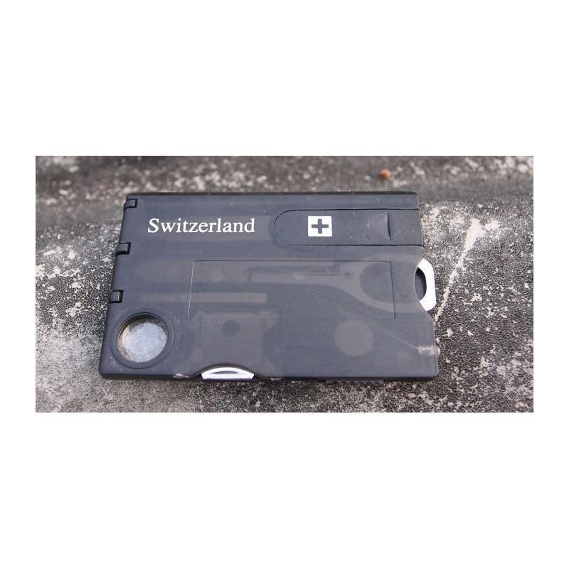 13955 - Складной нож-карточка – карманный набор инструментов 9 в 1
