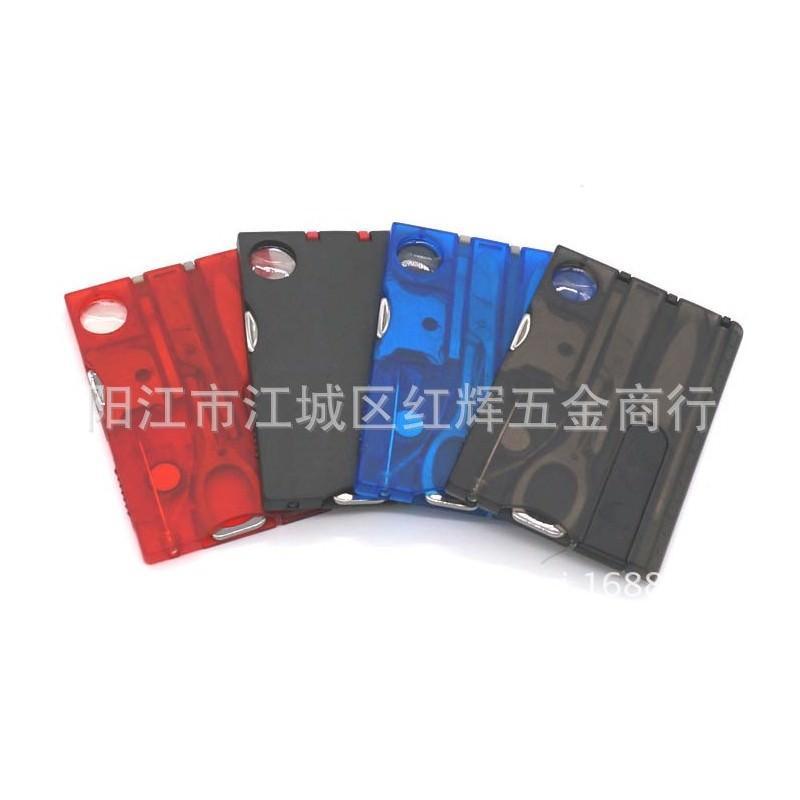 13958 - Складной нож-карточка – карманный набор инструментов 9 в 1