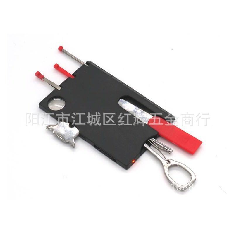 13961 - Складной нож-карточка – карманный набор инструментов 9 в 1