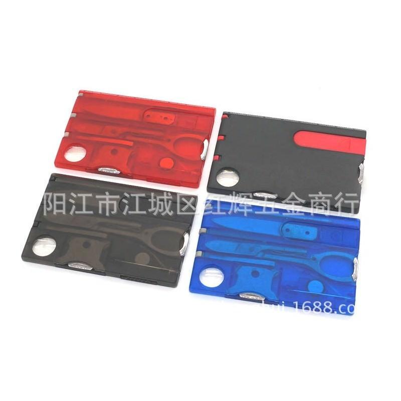 13963 - Складной нож-карточка – карманный набор инструментов 9 в 1
