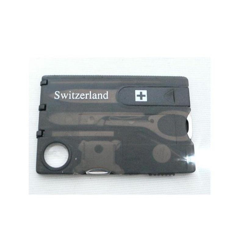 13964 - Складной нож-карточка – карманный набор инструментов 9 в 1