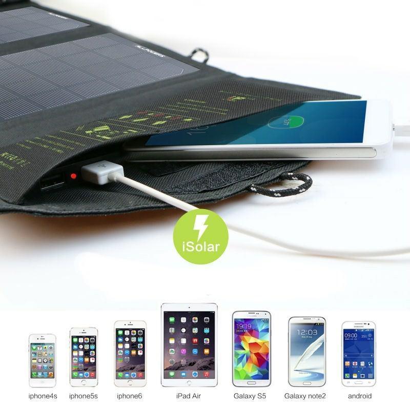 Портативное солнечное зарядное Allpowers 16 Вт: 4 панели, 2 USB-порта, 5В/ 2А 194692