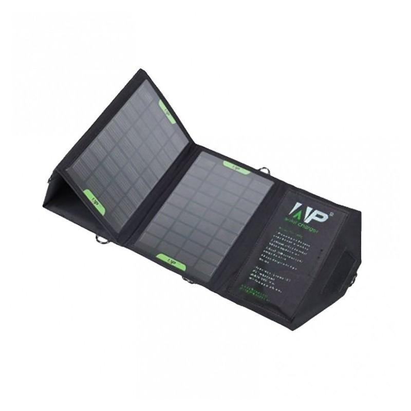 Портативное солнечное зарядное Allpowers 16 Вт: 4 панели, 2 USB-порта, 5В/ 2А 194696