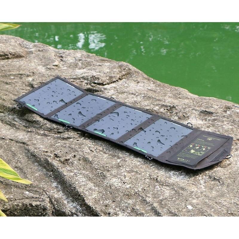 Портативное солнечное зарядное Allpowers 16 Вт: 4 панели, 2 USB-порта, 5В/ 2А 194698