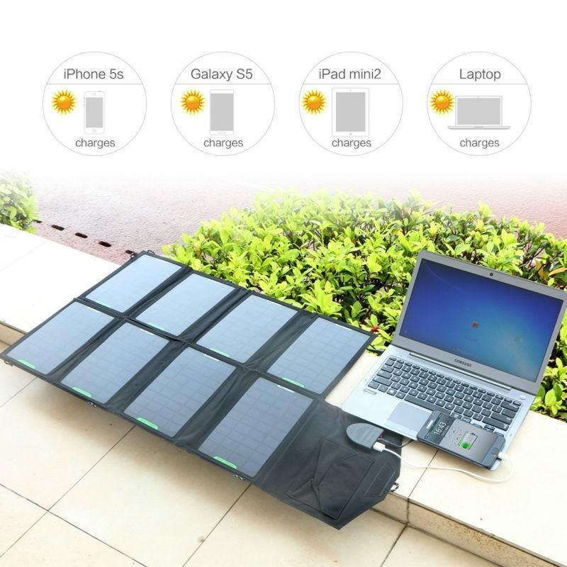 Портативное солнечное зарядное Allpowers для ноутбука 18В, 28Вт: 8 панелей, 2 разъема для зарядки 194719