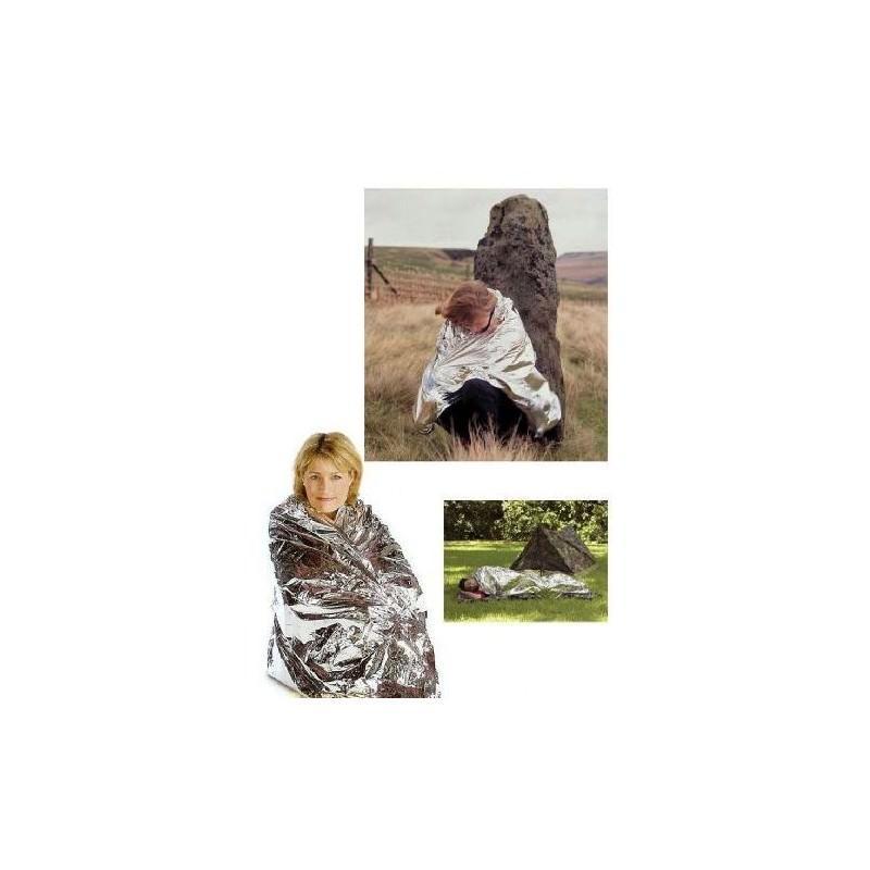 Комплект из двух алюминизированных одеял для туризма, кемпинга, чрезвычайных ситуаций: 160 x 210 см + 130 х 120 см 194744