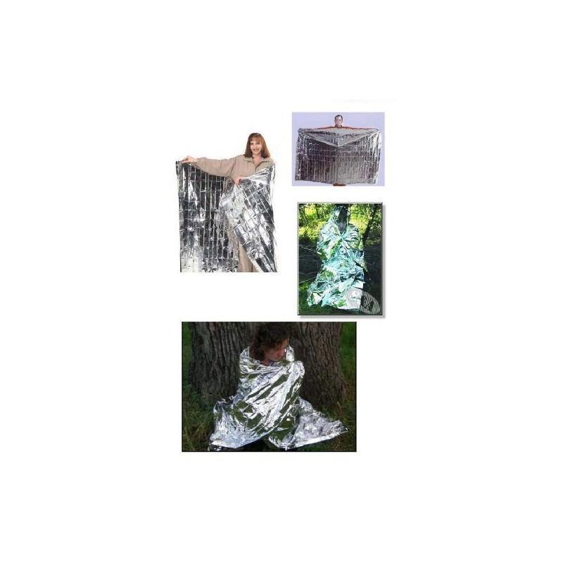 Комплект из двух алюминизированных одеял для туризма, кемпинга, чрезвычайных ситуаций: 160 x 210 см + 130 х 120 см 194745