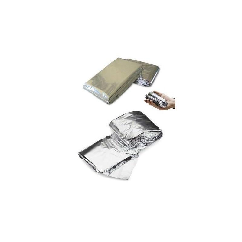 Комплект из двух алюминизированных одеял для туризма, кемпинга, чрезвычайных ситуаций: 160 x 210 см + 130 х 120 см 194746