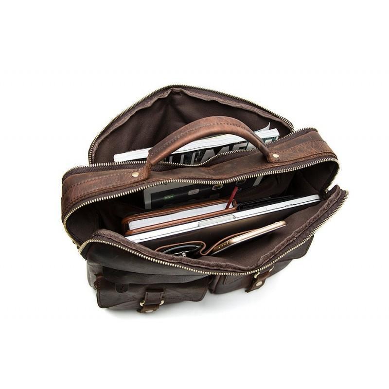 Мужская кожаная сумка-портфель Westborn Bestseller – натуральная кожа, солидный дизайн 194952