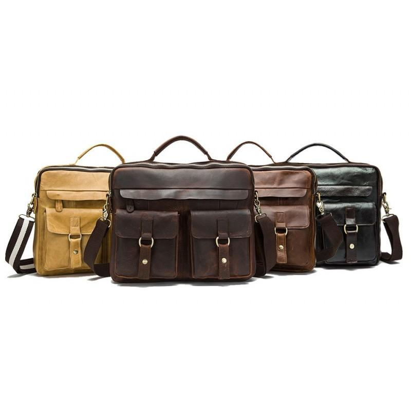 Мужская кожаная сумка-портфель Westborn Bestseller – натуральная кожа, солидный дизайн 194956