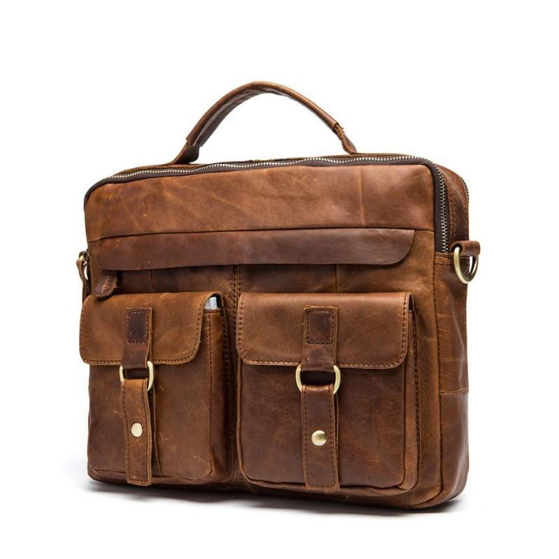 Мужская кожаная сумка-портфель Westborn Bestseller – натуральная кожа, солидный дизайн 194958