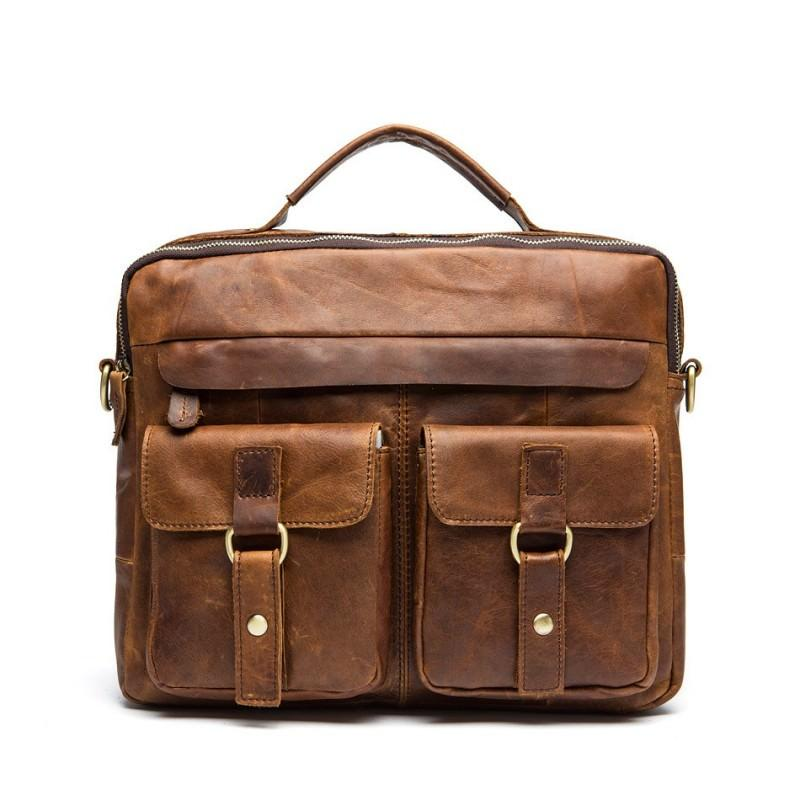 Мужская кожаная сумка-портфель Westborn Bestseller – натуральная кожа, солидный дизайн 194959