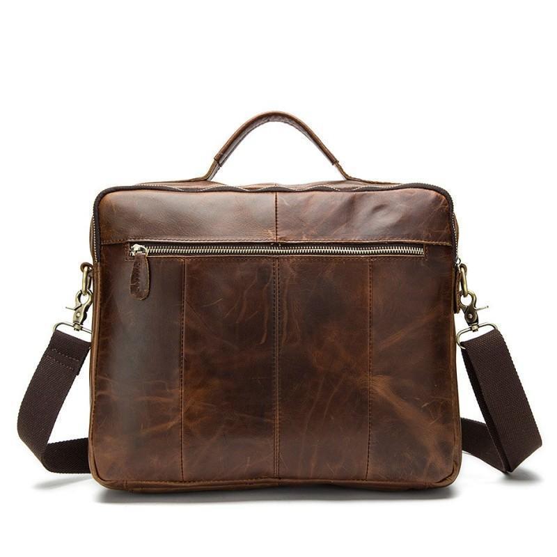 Мужская кожаная сумка-портфель Westborn Bestseller – натуральная кожа, солидный дизайн 194960