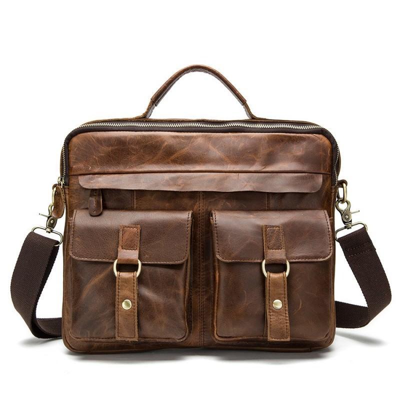Мужская кожаная сумка-портфель Westborn Bestseller – натуральная кожа, солидный дизайн 194961