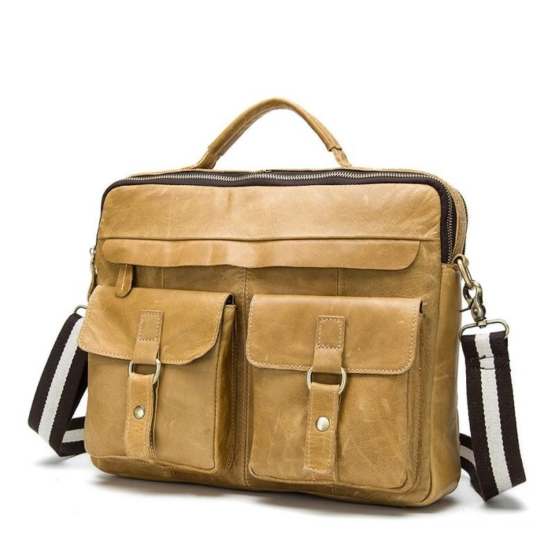 Мужская кожаная сумка-портфель Westborn Bestseller – натуральная кожа, солидный дизайн 194963