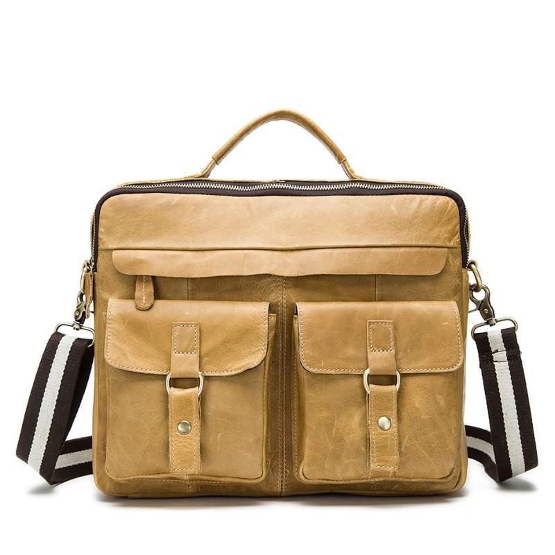 Мужская кожаная сумка-портфель Westborn Bestseller – натуральная кожа, солидный дизайн 194964