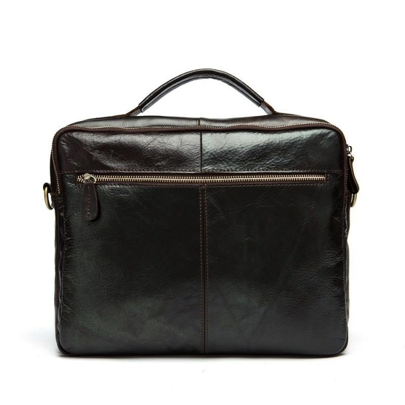 Мужская кожаная сумка-портфель Westborn Bestseller – натуральная кожа, солидный дизайн 194966