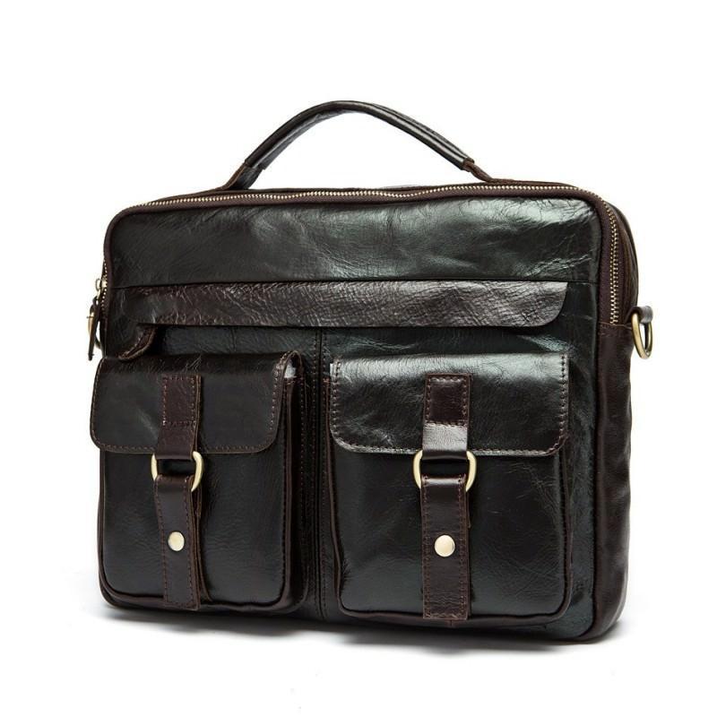 Мужская кожаная сумка-портфель Westborn Bestseller – натуральная кожа, солидный дизайн 194967
