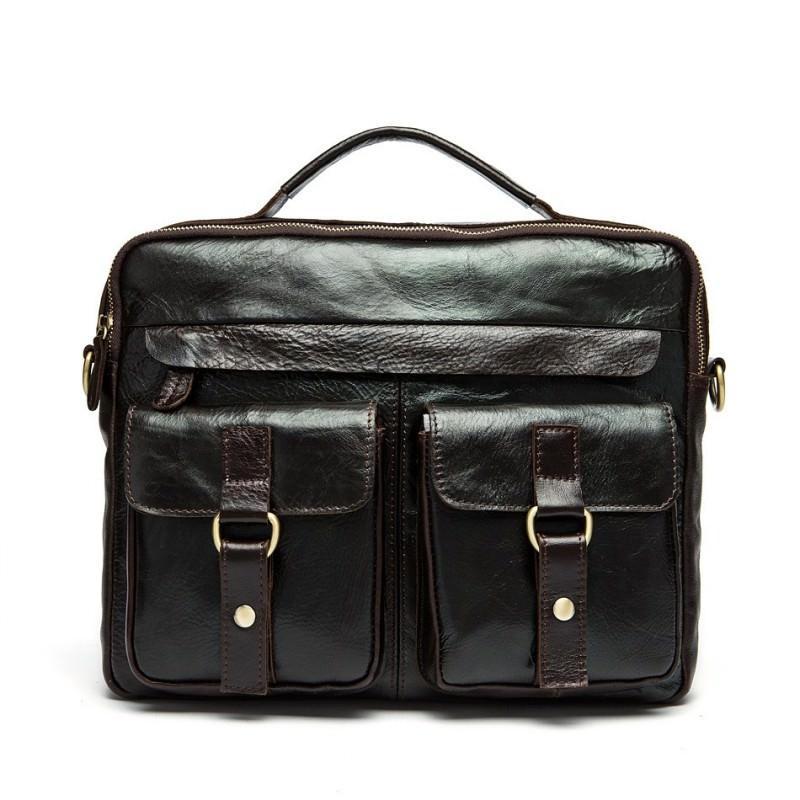 Мужская кожаная сумка-портфель Westborn Bestseller – натуральная кожа, солидный дизайн 194968