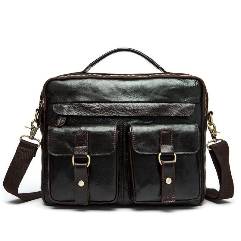 Мужская кожаная сумка-портфель Westborn Bestseller – натуральная кожа, солидный дизайн 194969