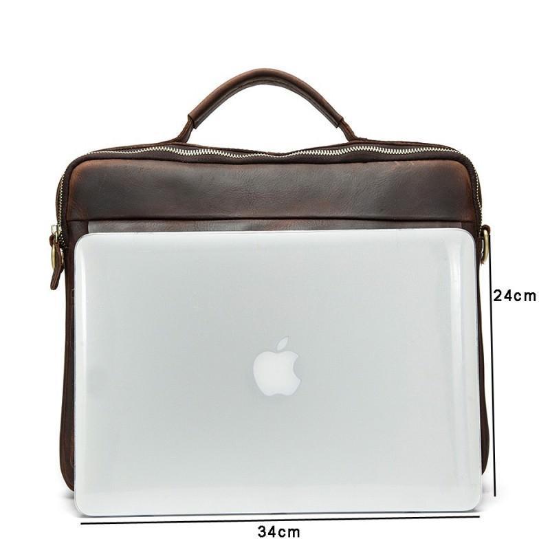 Мужская кожаная сумка-портфель Westborn Bestseller – натуральная кожа, солидный дизайн 194971