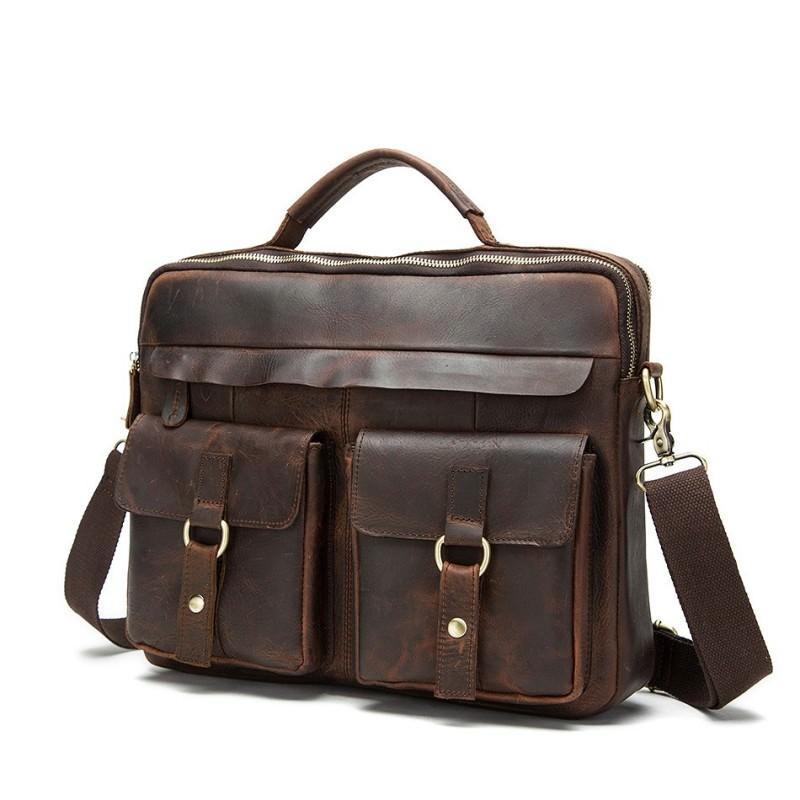 Мужская кожаная сумка-портфель Westborn Bestseller – натуральная кожа, солидный дизайн 194972