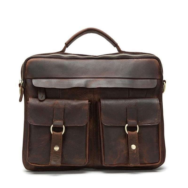 Мужская кожаная сумка-портфель Westborn Bestseller – натуральная кожа, солидный дизайн 194974