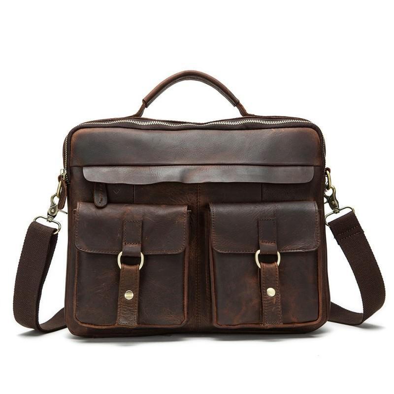 Мужская кожаная сумка-портфель Westborn Bestseller – натуральная кожа, солидный дизайн 194975